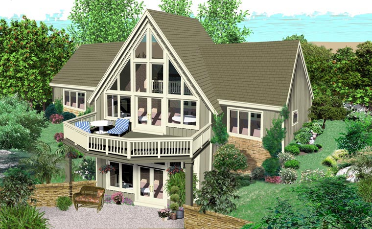 Traditional House Plan 44933 Rear Elevation
