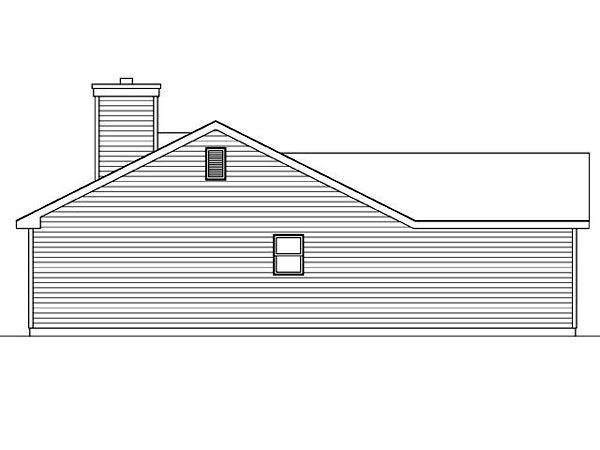 Ranch, Traditional House Plan 45100 with 3 Beds, 2 Baths, 2 Car Garage Picture 1