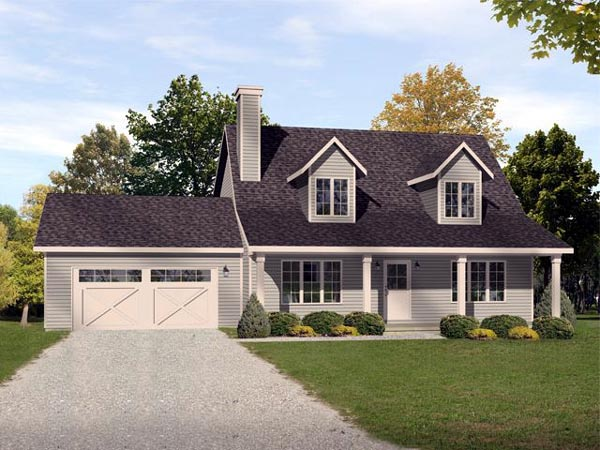 Country Traditional House Plan 45101 Elevation