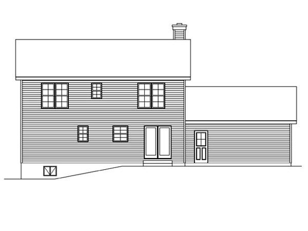 Country Traditional House Plan 45101 Rear Elevation