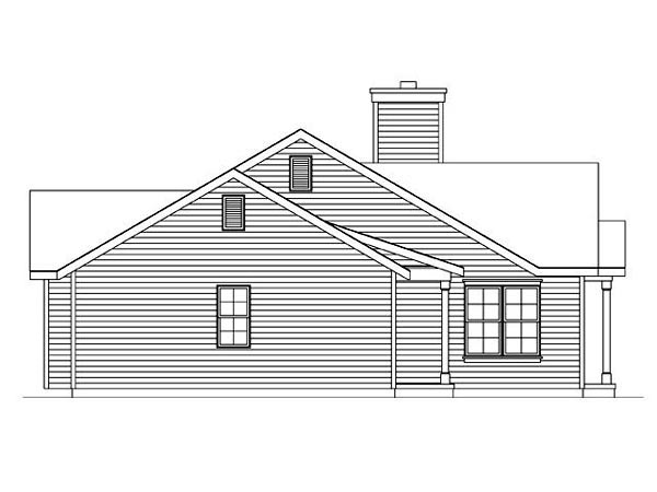 Ranch, Traditional House Plan 45102 with 2 Beds, 2 Baths, 1 Car Garage Picture 1