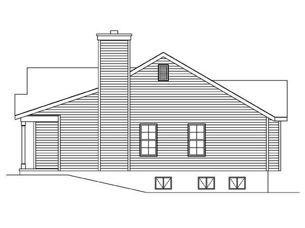 Ranch, Traditional House Plan 45102 with 2 Beds, 2 Baths, 1 Car Garage Picture 2