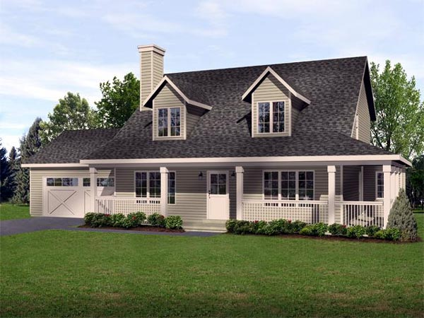 House Plan 45103 | Country Traditional Style Plan with 1782 Sq Ft, 3 Bedrooms, 3 Bathrooms, 2 Car Garage Elevation