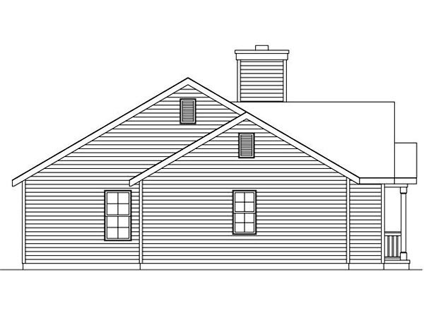 Ranch, Traditional House Plan 45105 with 2 Beds, 2 Baths, 1 Car Garage Picture 1