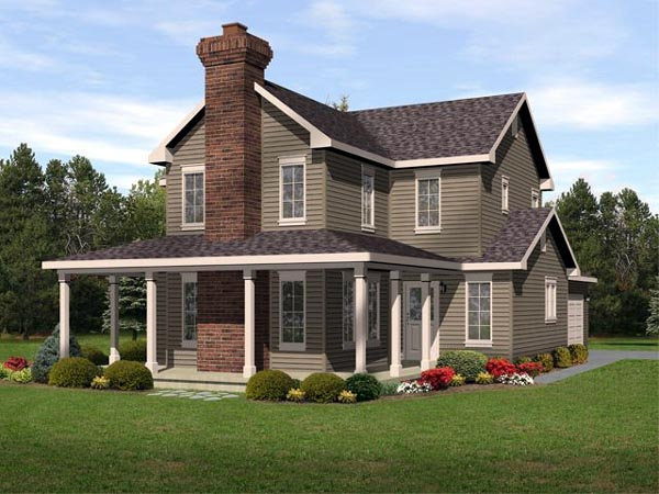 Country Traditional House Plan 45107 Elevation