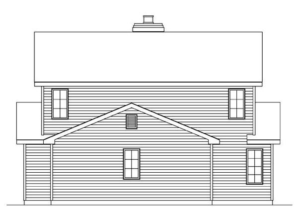 Country Traditional House Plan 45107 Rear Elevation