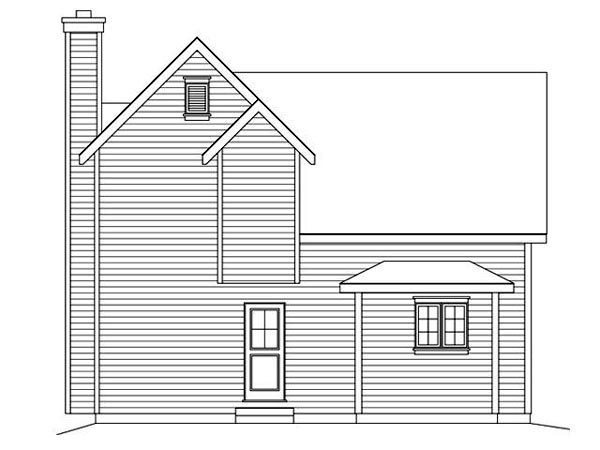Traditional House Plan 45109 Rear Elevation