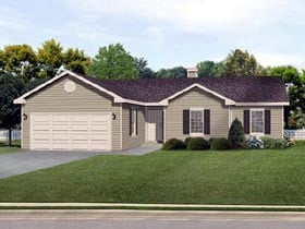 Ranch Traditional House Plan 45112 Elevation