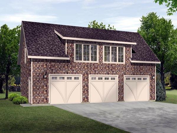 Garage Plan 45114 Elevation