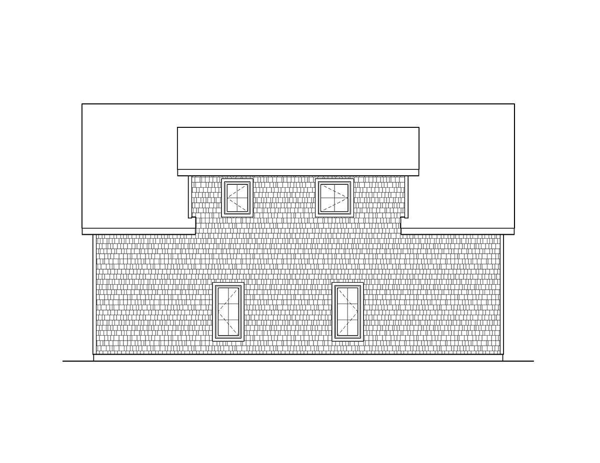 Garage Plan 45114 Rear Elevation