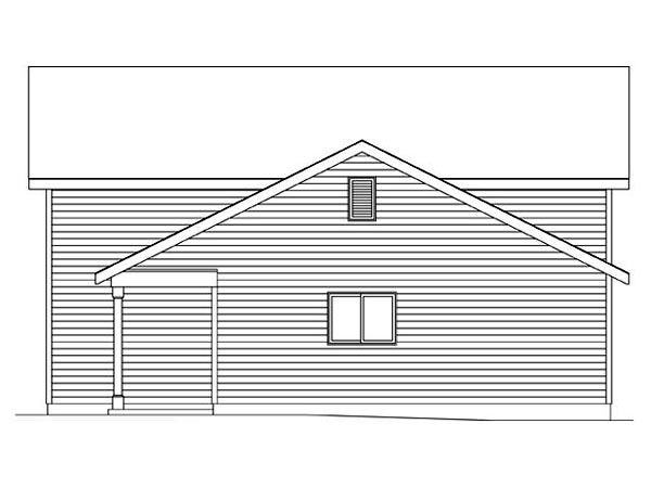 2 Car Garage Plan 45116, RV Storage Picture 2