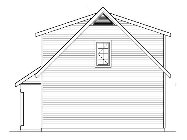 Country, Traditional 2 Car Garage Plan 45119 Picture 2