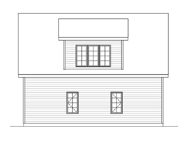 Garage Plan 45119 | Style Plan, 2 Car Garage Rear Elevation