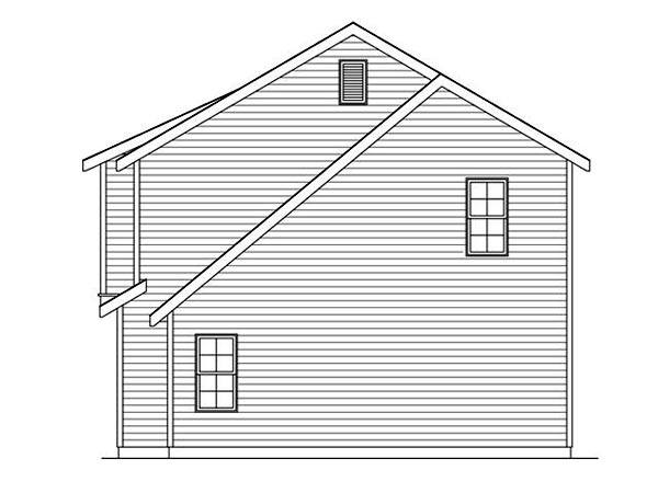 3 Car Garage Apartment Plan 45120 with 2 Beds, 1 Baths Picture 2