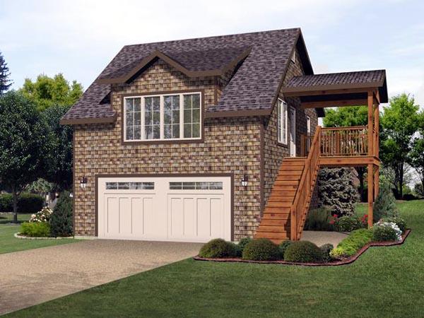Garage Plan 45121 Elevation