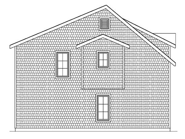 2 Car Garage Apartment Plan 45121 with 2 Beds, 1 Baths Picture 1