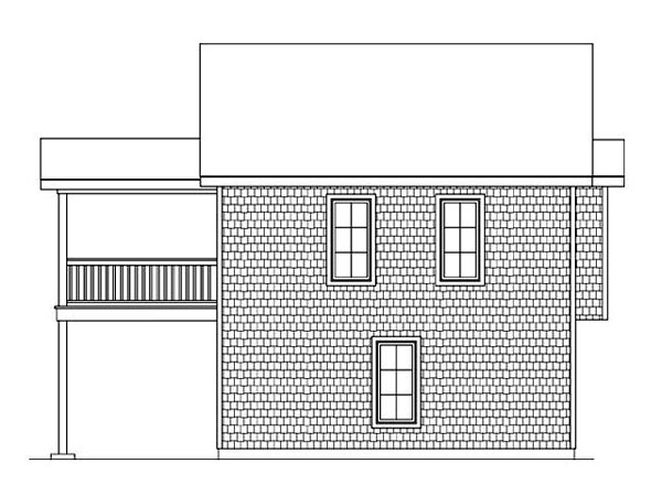 Rear Elevation of Plan 45121