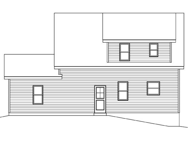 Rear Elevation of Plan 45122