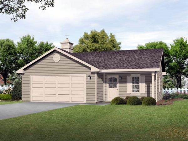 Garage Plan 45123 Elevation