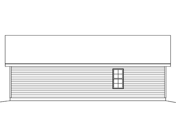 Garage Plan 45123 Rear Elevation