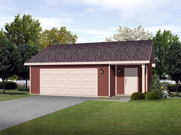 Garage Plan 45124 Elevation