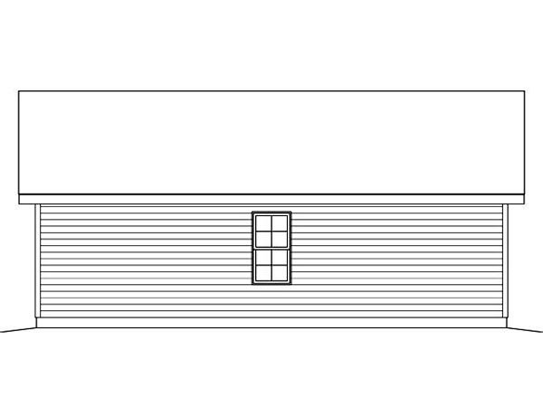Rear Elevation of Plan 45124
