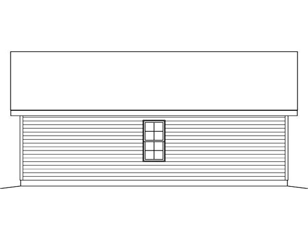 2 Car Garage Plan 45124 Rear Elevation