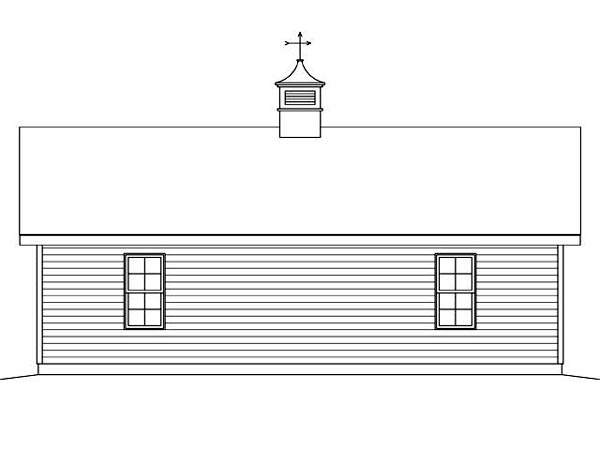 Garage Plan 45125 Rear Elevation