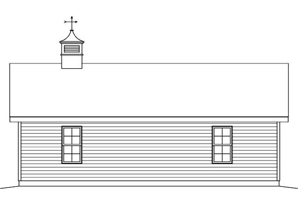 Rear Elevation of Plan 45126