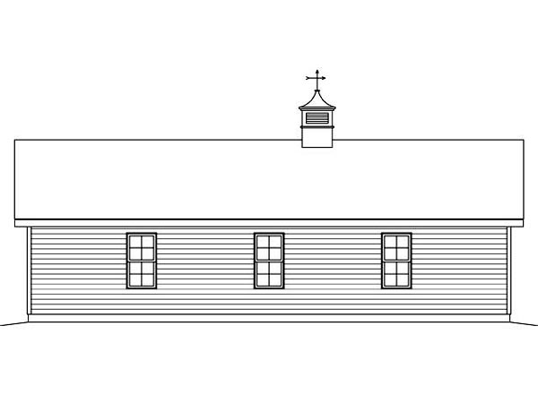 Garage Plan 45127 Rear Elevation