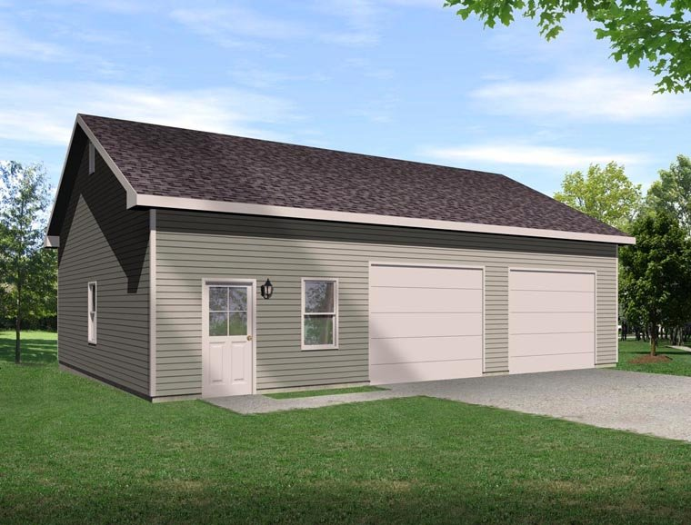 Garage Plan 45129 Elevation