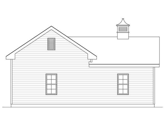 Garage Plan 45130 Rear Elevation