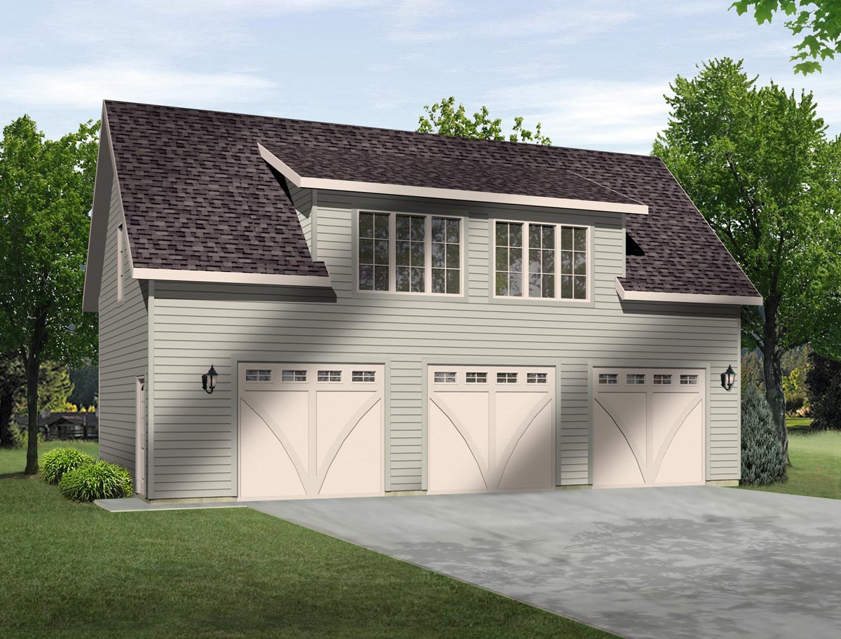 Garage plan 45131 at for 3 stall garage with apartment