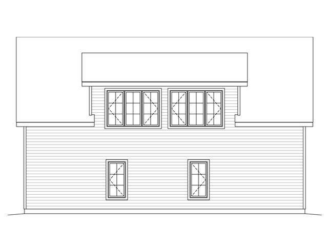 Garage Plan 45131 Rear Elevation