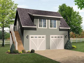 Garage Plan 45132 Elevation