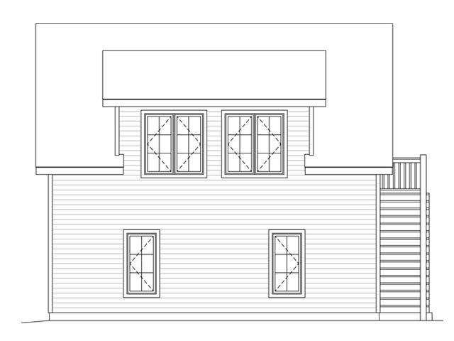 Garage Plan 45132 Rear Elevation