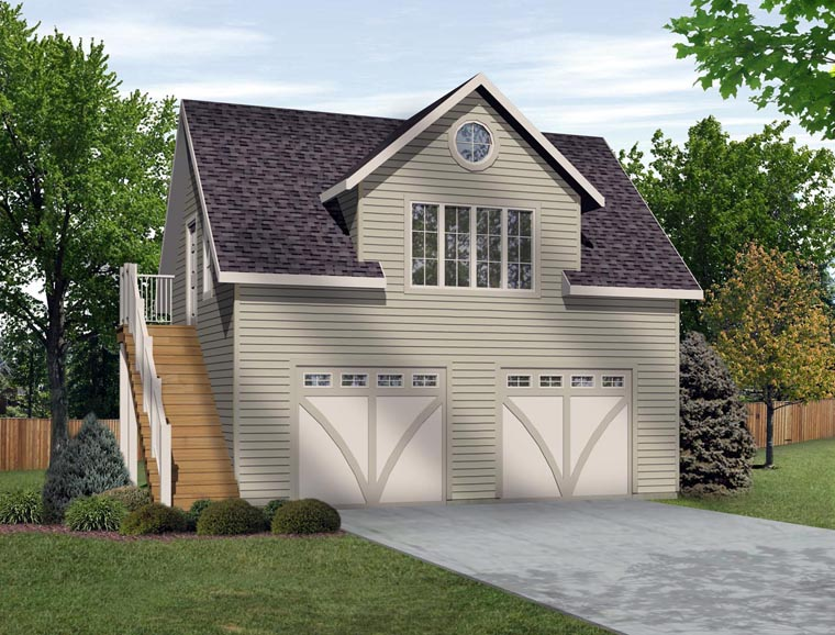 2 Car Garage Plan 45133 Elevation