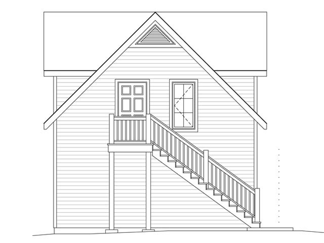 2 Car Garage Apartment Plan 45134 with 1 Beds, 1 Baths Picture 1
