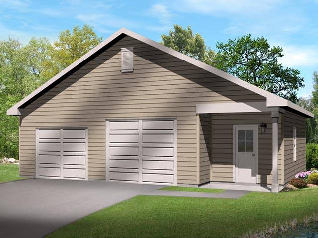 Garage Plan 45136 Elevation