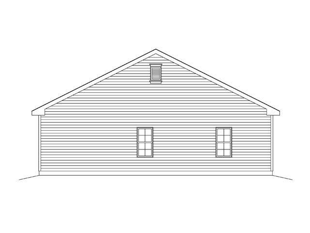 Garage Plan 45136 Rear Elevation