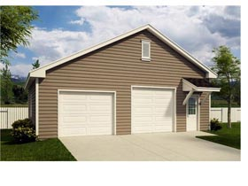 2 Car Garage Plan 45137 Elevation