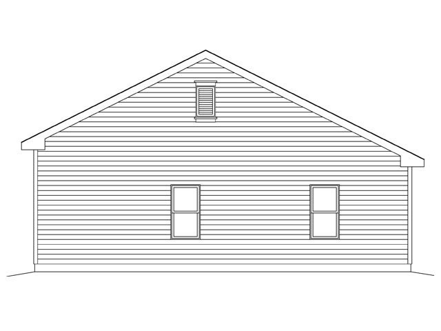 2 Car Garage Plan 45137 Rear Elevation