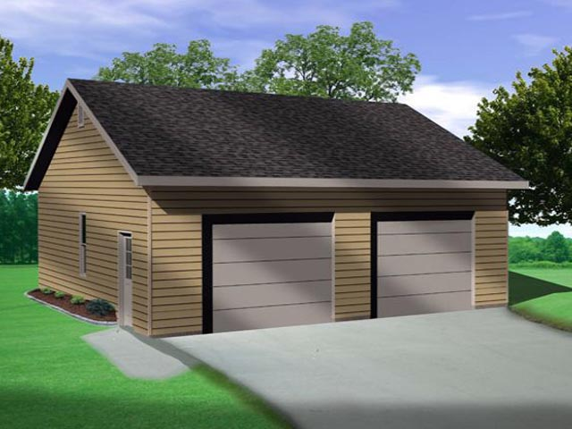 Garage Plan 45138 Elevation