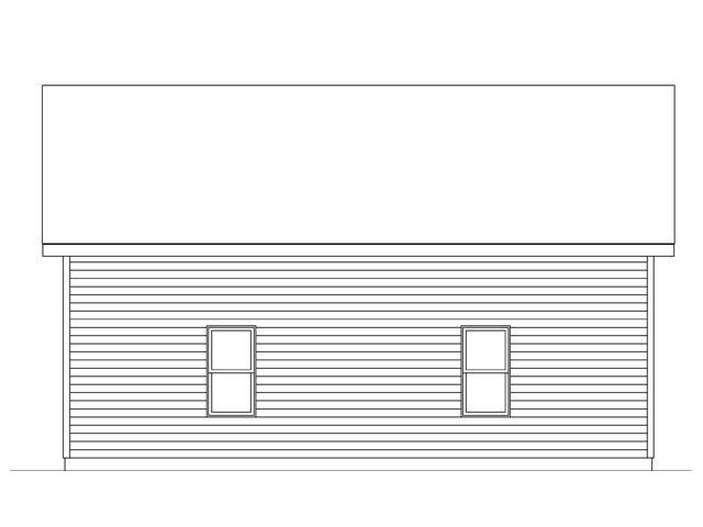 Garage Plan 45138 Rear Elevation