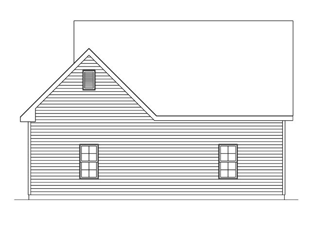 Rear Elevation of Plan 45140