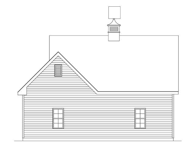Garage Plan 45141 Rear Elevation