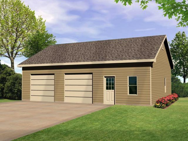 2 Car Garage Plan 45142 Elevation