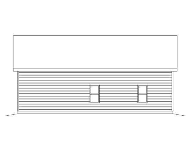 Garage Plan 45142 Rear Elevation