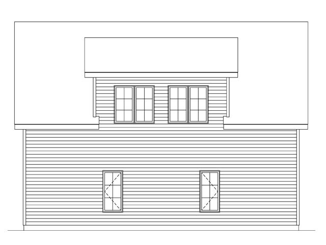 Garage Plan 45145 Rear Elevation