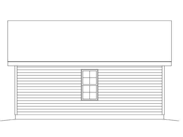 Garage Plan 45148 Rear Elevation